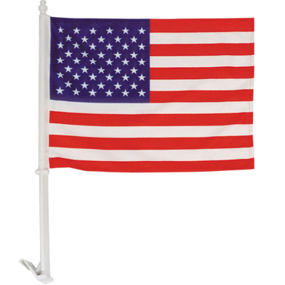 High quality 1-Ply US car flag knit polyester