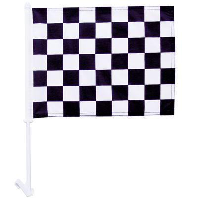 High quality 1-Ply Checked car flag knit polyester