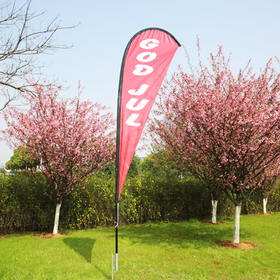 Single Sided Teardrop Flags,Beach Flag