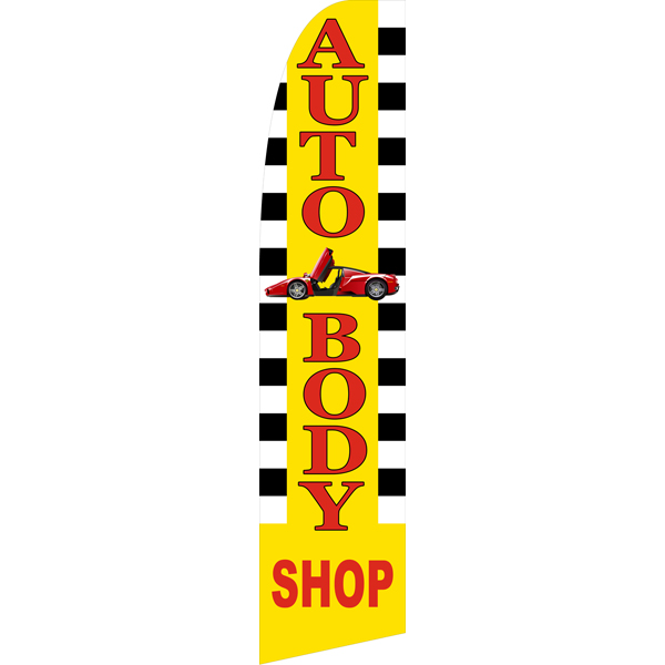 Auto Body Shop Swooper Flags,Beach Flag