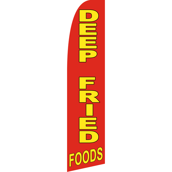 Deep Fried Foods Swooper Flags,Beach Flag