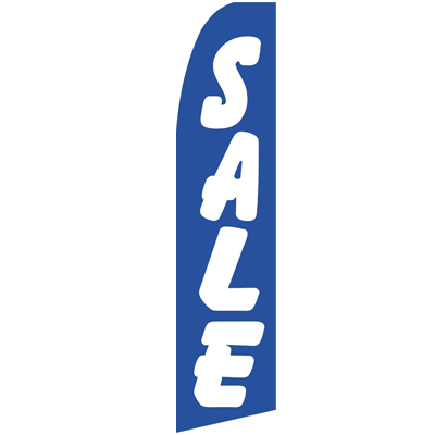 Blue Sale Swooper Flags, Sale Beach Flags